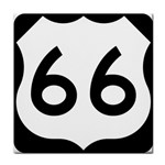 U.S. Route 66 Tile Coasters Front
