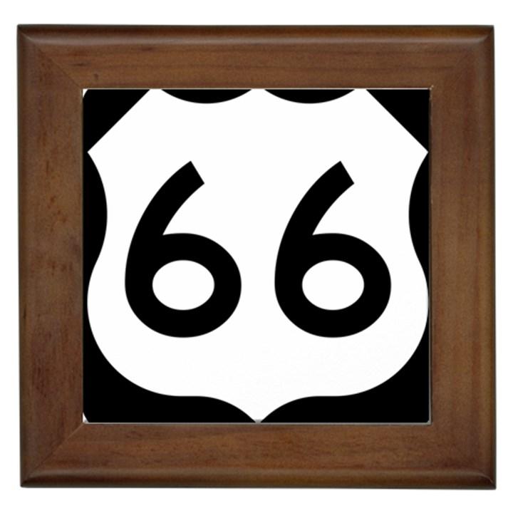 U.S. Route 66 Framed Tiles