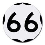 U.S. Route 66 Round Mousepads Front