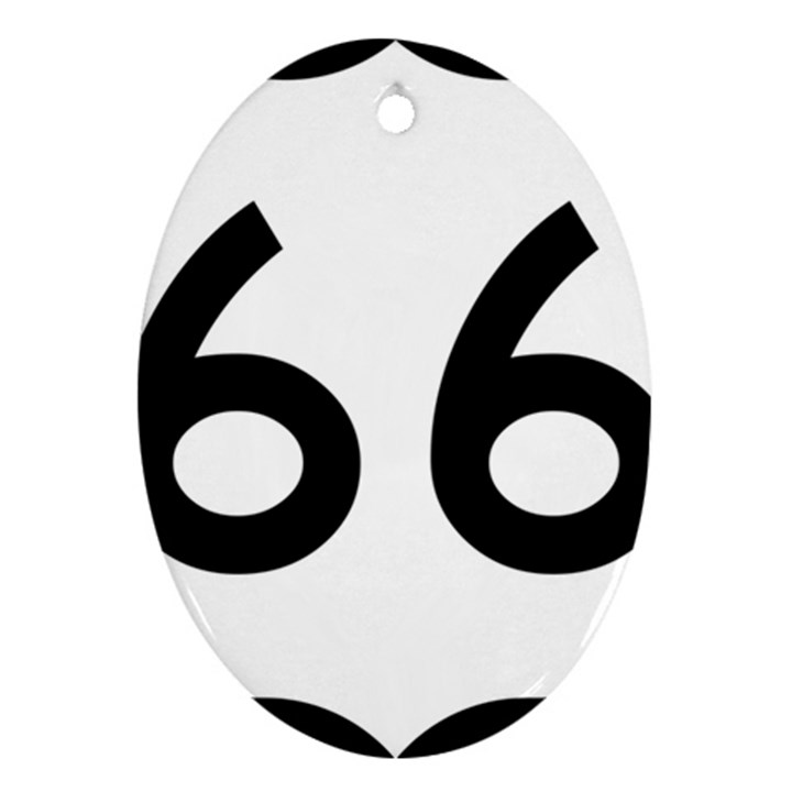 U.S. Route 66 Ornament (Oval)