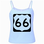 U.S. Route 66 Baby Blue Spaghetti Tank