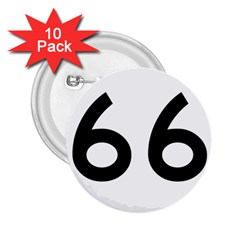U S  Route 66 2 25  Buttons (10 Pack)  by abbeyz71