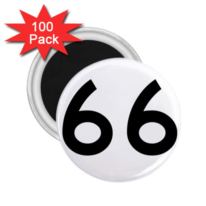 U.S. Route 66 2.25  Magnets (100 pack)