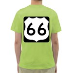 U.S. Route 66 Green T-Shirt Back