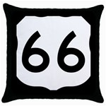 U.S. Route 66 Throw Pillow Case (Black)
