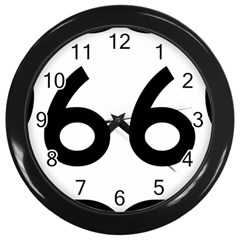U S  Route 66 Wall Clocks (black) by abbeyz71
