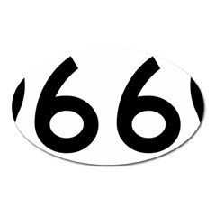 U S  Route 66 Oval Magnet