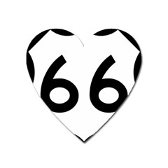 U S  Route 66 Heart Magnet by abbeyz71