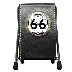 U S  Route 66 Pen Holder Desk Clocks by abbeyz71