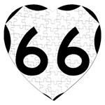 U.S. Route 66 Jigsaw Puzzle (Heart)