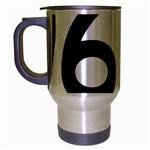U.S. Route 66 Travel Mug (Silver Gray) Left