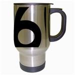 U.S. Route 66 Travel Mug (Silver Gray) Right
