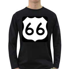 U S  Route 66 Long Sleeve Dark T Shirts