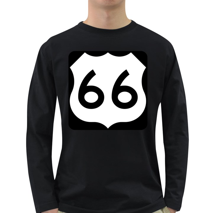 U.S. Route 66 Long Sleeve Dark T-Shirts
