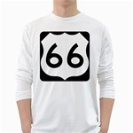 U.S. Route 66 White Long Sleeve T-Shirts