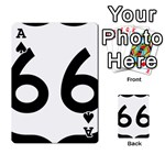 U.S. Route 66 Playing Cards 54 Designs  Front - SpadeA