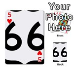 U.S. Route 66 Playing Cards 54 Designs  Front - Heart5