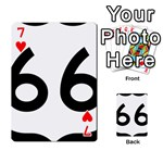 U.S. Route 66 Playing Cards 54 Designs  Front - Heart7
