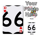 U.S. Route 66 Playing Cards 54 Designs  Front - Heart10
