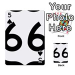 U.S. Route 66 Playing Cards 54 Designs  Front - Spade5