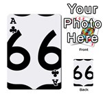 U.S. Route 66 Playing Cards 54 Designs  Front - ClubA
