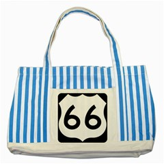 U S  Route 66 Striped Blue Tote Bag by abbeyz71
