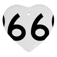 U S  Route 66 Heart Ornament (2 Sides) by abbeyz71
