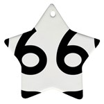U.S. Route 66 Star Ornament (Two Sides)  Front