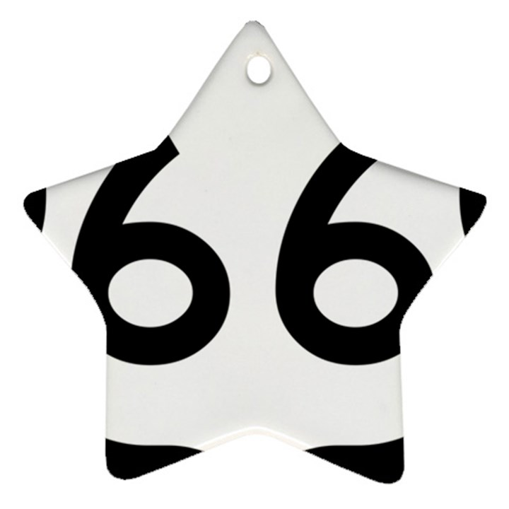 U.S. Route 66 Star Ornament (Two Sides)
