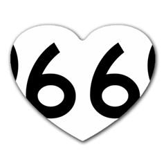 U.S. Route 66 Heart Mousepads