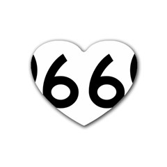 U S  Route 66 Heart Coaster (4 Pack)