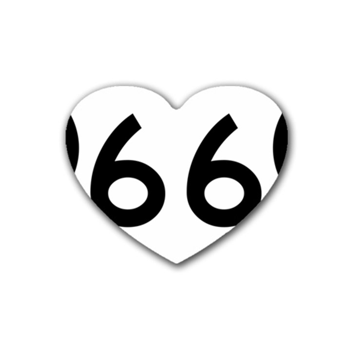 U.S. Route 66 Heart Coaster (4 pack)