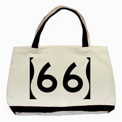 U S  Route 66 Basic Tote Bag (two Sides) by abbeyz71