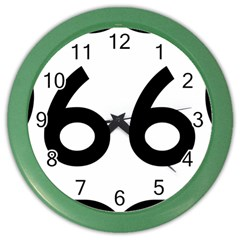U S  Route 66 Color Wall Clocks by abbeyz71