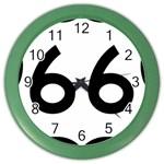 U.S. Route 66 Color Wall Clocks