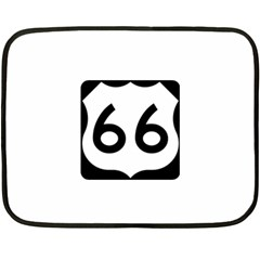 U S  Route 66 Double Sided Fleece Blanket (mini)