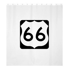 U S  Route 66 Shower Curtain 66  X 72  (large)  by abbeyz71
