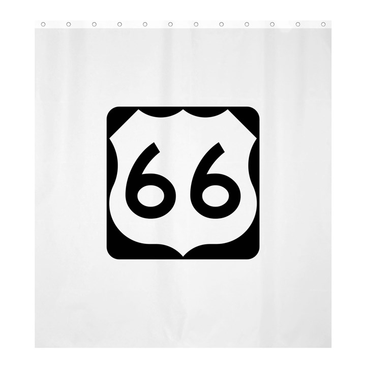 U.S. Route 66 Shower Curtain 66  x 72  (Large)