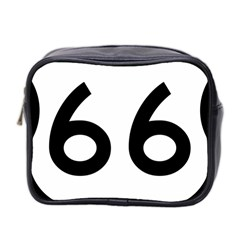 U S  Route 66 Mini Toiletries Bag 2 Side