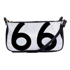U S  Route 66 Shoulder Clutch Bags by abbeyz71