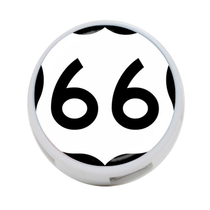 U.S. Route 66 4-Port USB Hub (One Side)