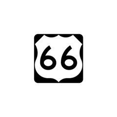 U S  Route 66 Shower Curtain 48  X 72  (small)  by abbeyz71