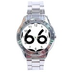 U.S. Route 66 Stainless Steel Analogue Watch Front