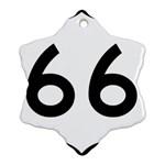 U.S. Route 66 Ornament (Snowflake)