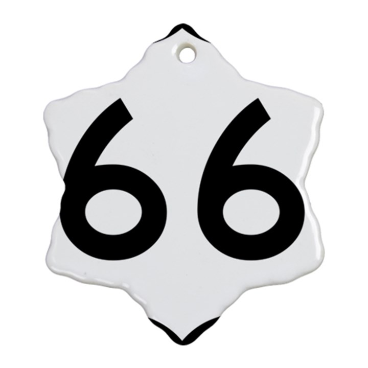 U.S. Route 66 Ornament (Snowflake)