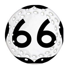 U S  Route 66 Round Filigree Ornament (2side)