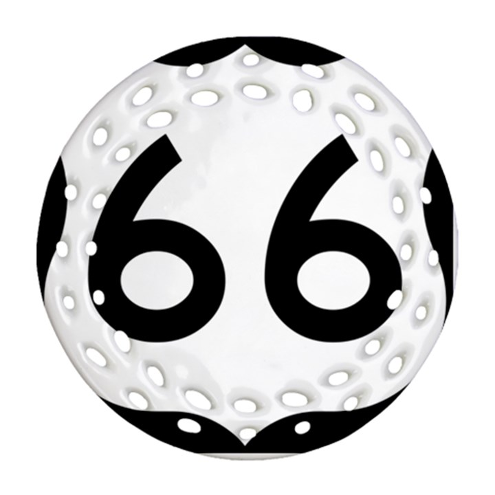 U.S. Route 66 Round Filigree Ornament (2Side)