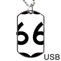 U S  Route 66 Dog Tag Usb Flash (one Side) by abbeyz71