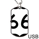 U.S. Route 66 Dog Tag USB Flash (Two Sides)  Front