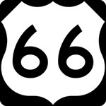 U.S. Route 66 Happy Birthday 3D Greeting Card (8x4) Inside